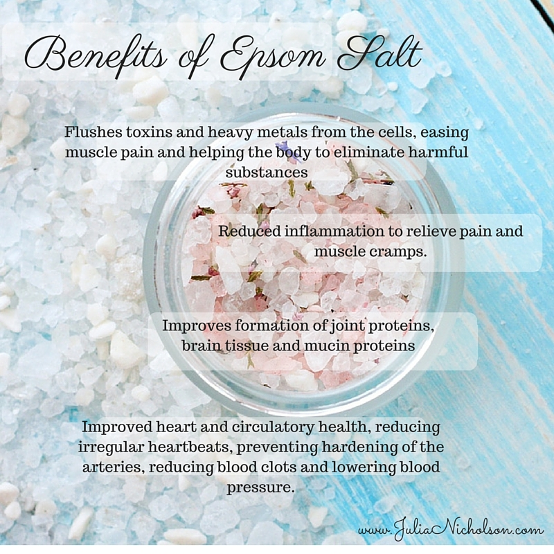 Benefits Of Epsomsalt Www Julianicholson